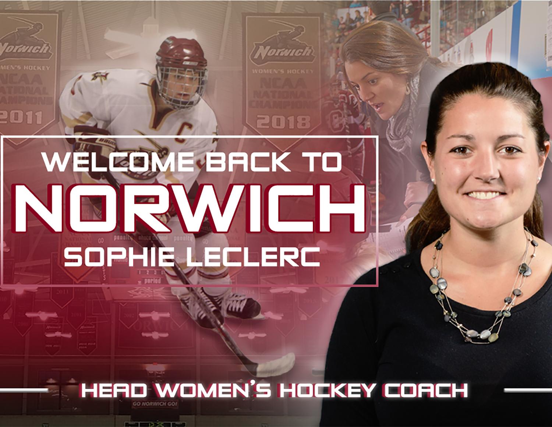Sophie Leclerc 10 Returns As Head Women S Hockey Coach